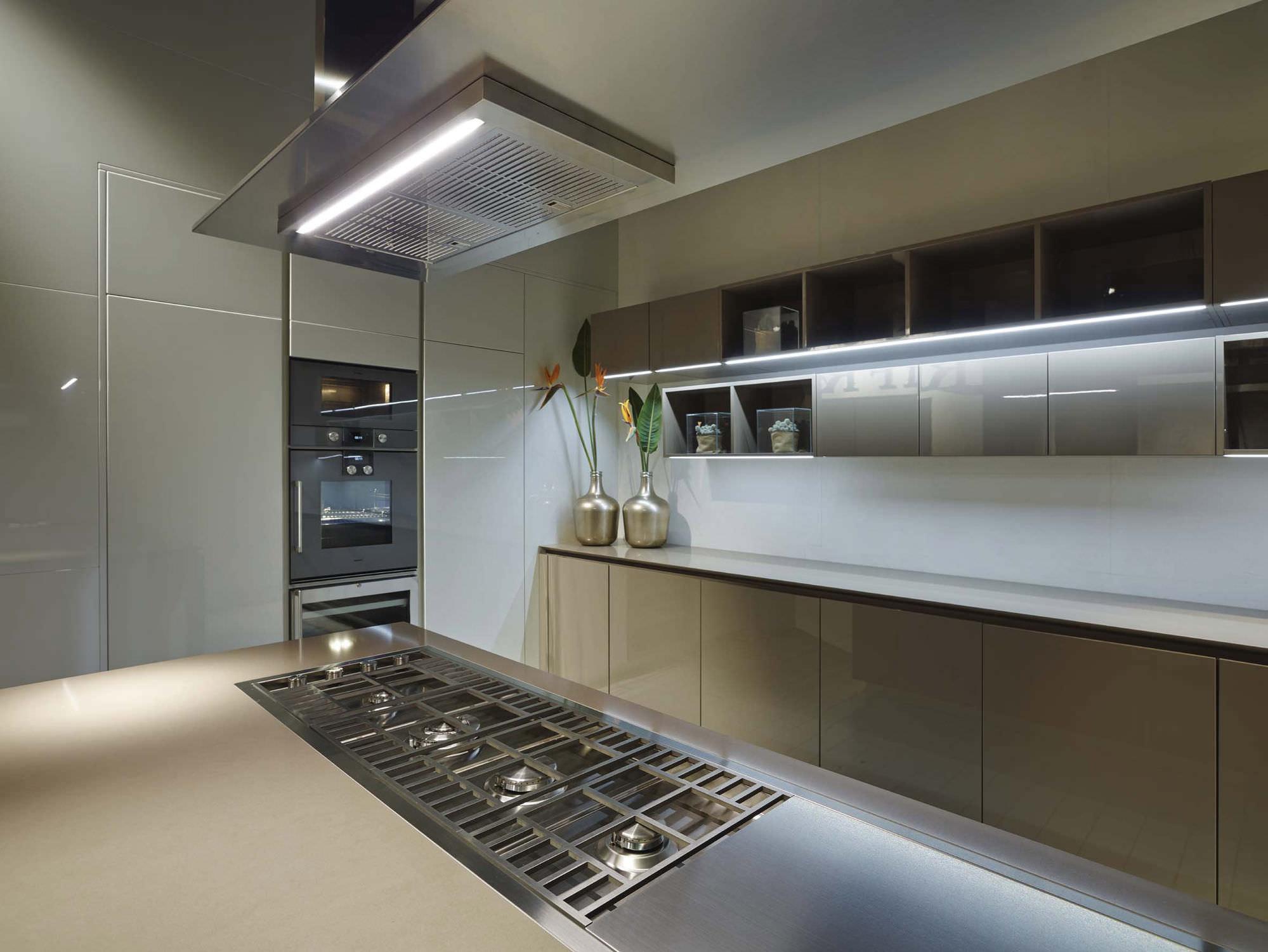 Bien-aimé Hotte de cuisine îlot / intégrée au plan de travail / avec  QC33