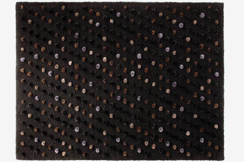 tapis contemporain motif en laine rectangulaire pompon by hugo zumb hl ruckstuhl ag. Black Bedroom Furniture Sets. Home Design Ideas