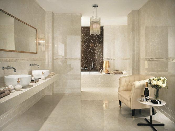 carrelage salle de bain effet marbre
