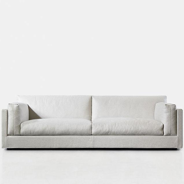 Canapé Contemporain En Tissu Places Blanc CODE Joquer - Canapé blanc tissu