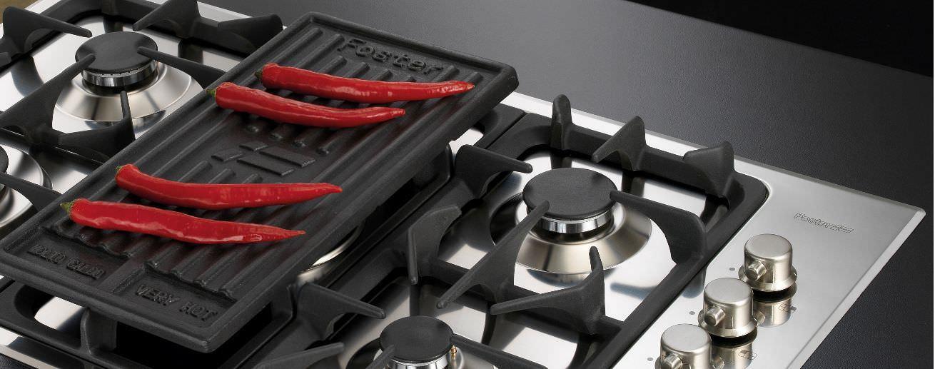 table de cuisson à gaz / en fonte / avec gril - professionale.5f
