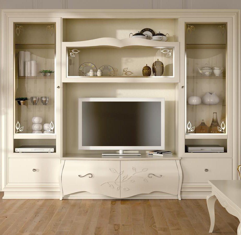 Meuble Tv De Style En Bois En Bois Laqu My Classic Dream  # Meuble Tv De Style