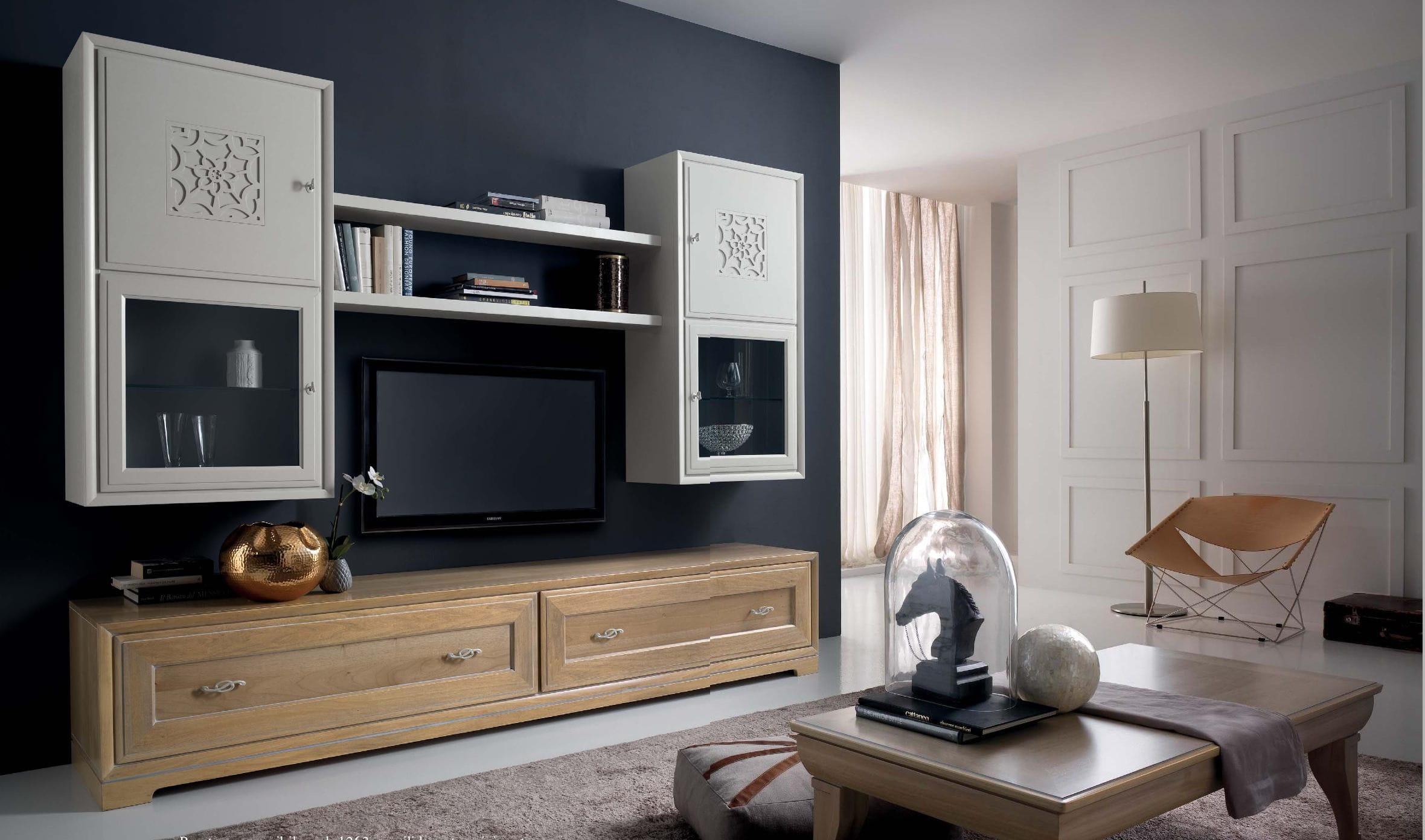 Meuble Tv Contemporain En Bois Noce Natura Stilema # Meuble Tv Contemporain Bois