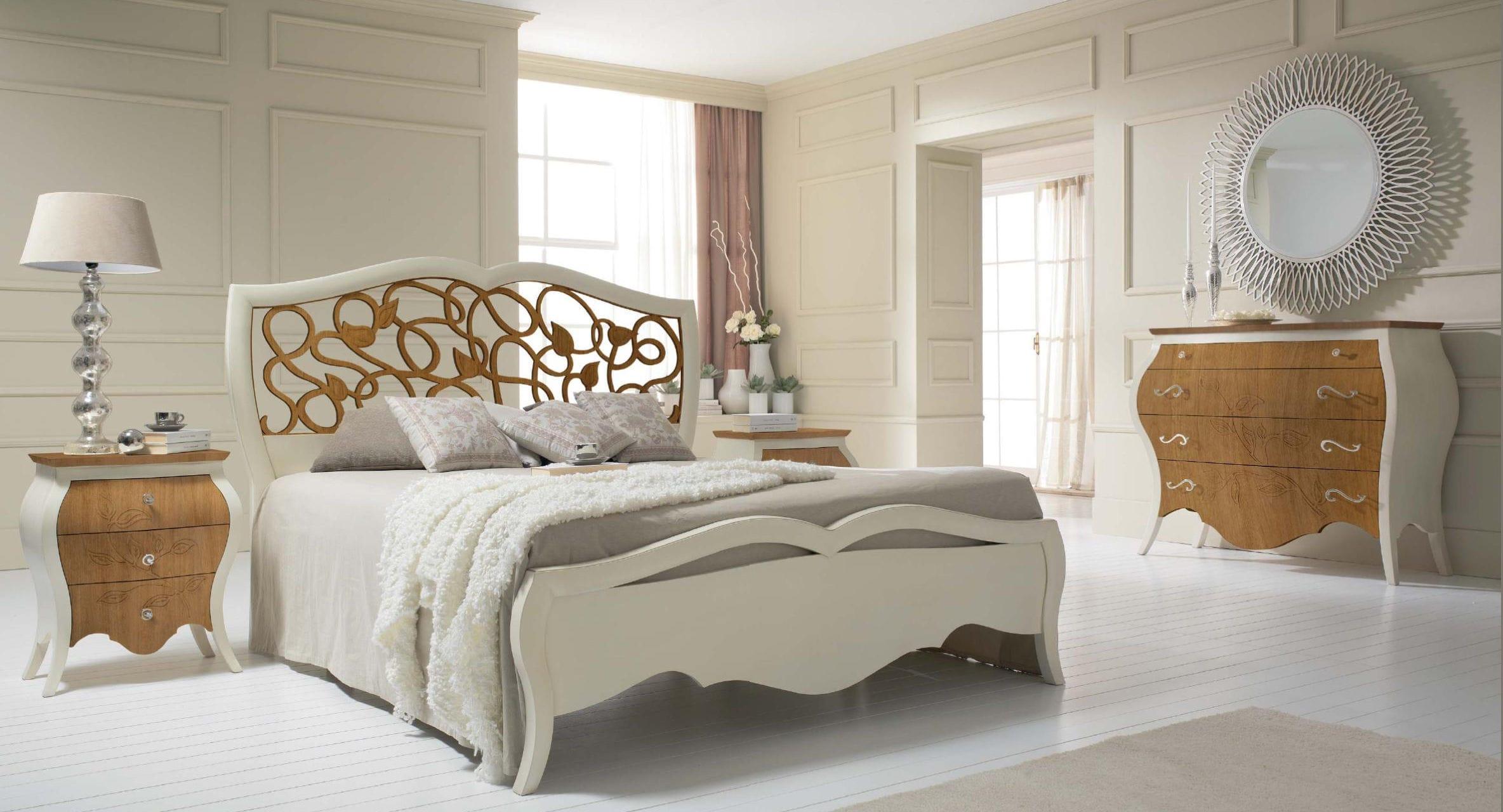 Table de chevet classique / en bois laqué / avec tiroir - NOCEGRANO ...