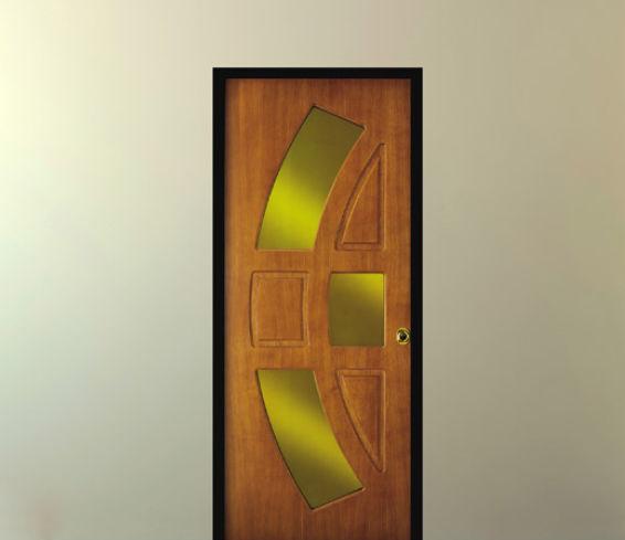 Très Porte d'entrée / battante / en bois / semi-vitrée - Torteloro & re CM84