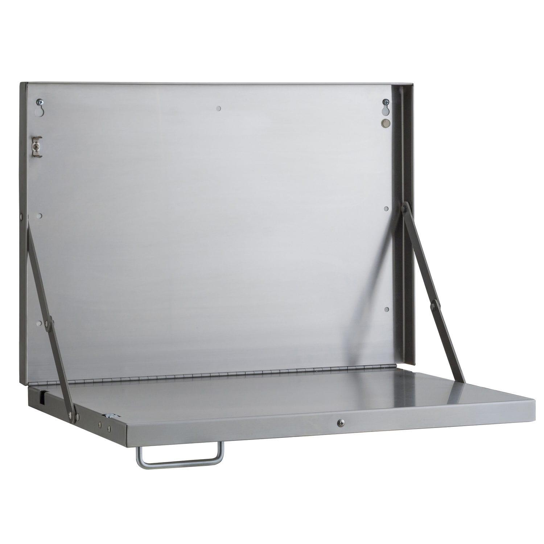 Étagère rabattable / murale / design industriel / en acier