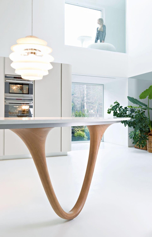 cuisine contemporaine en bois avec lot laque