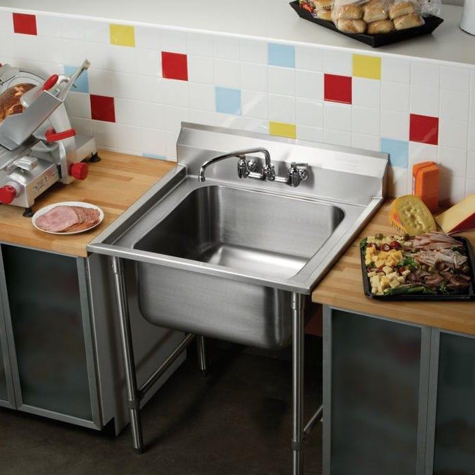 Meuble évier Sur Pieds Pour Cuisine Professionnelle Rnsf8118 Elkay