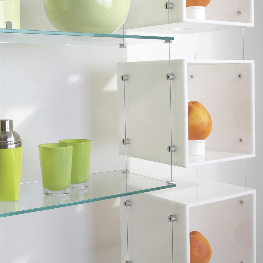 Relativ Système d'étagères suspendu / contemporain / en verre / pour  AW06