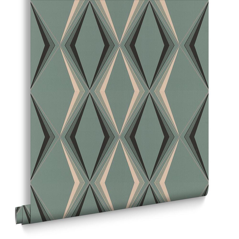Papier Peint Contemporain Vintage Geometrique Deco Diamond By