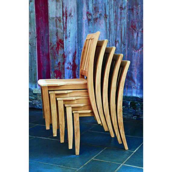 Ensemble table et chaises classique / en bois / de jardin ...