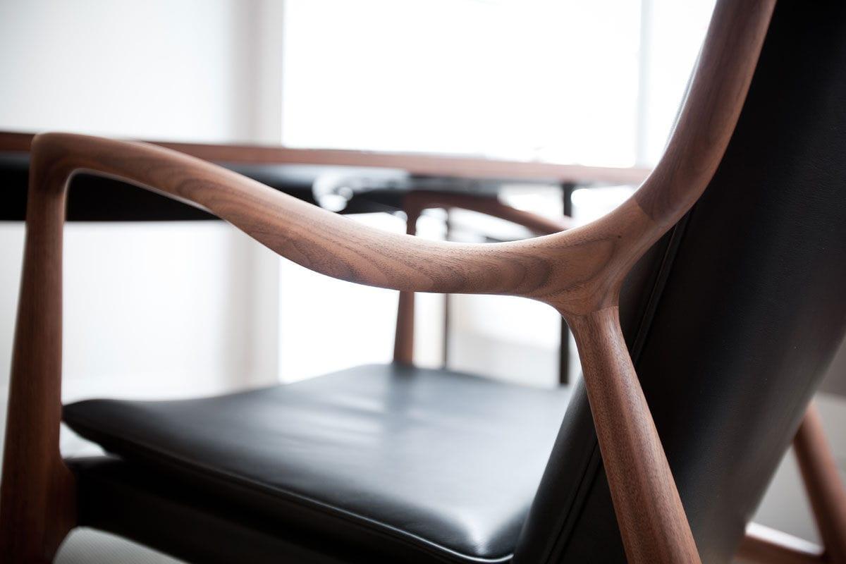 Fauteuil contemporain en tissu en cuir en bois 45 Triode