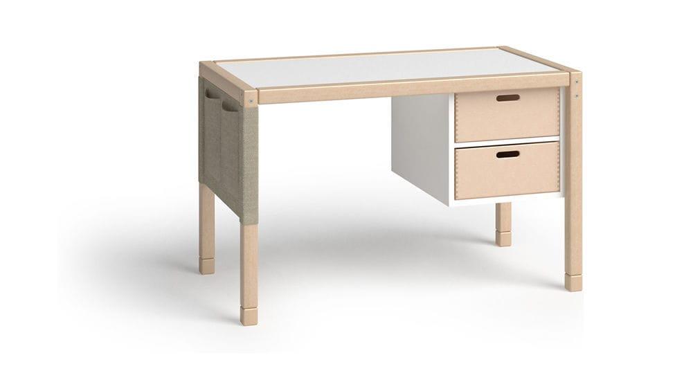 Bureau en bois contemporain pour enfant avec rangement