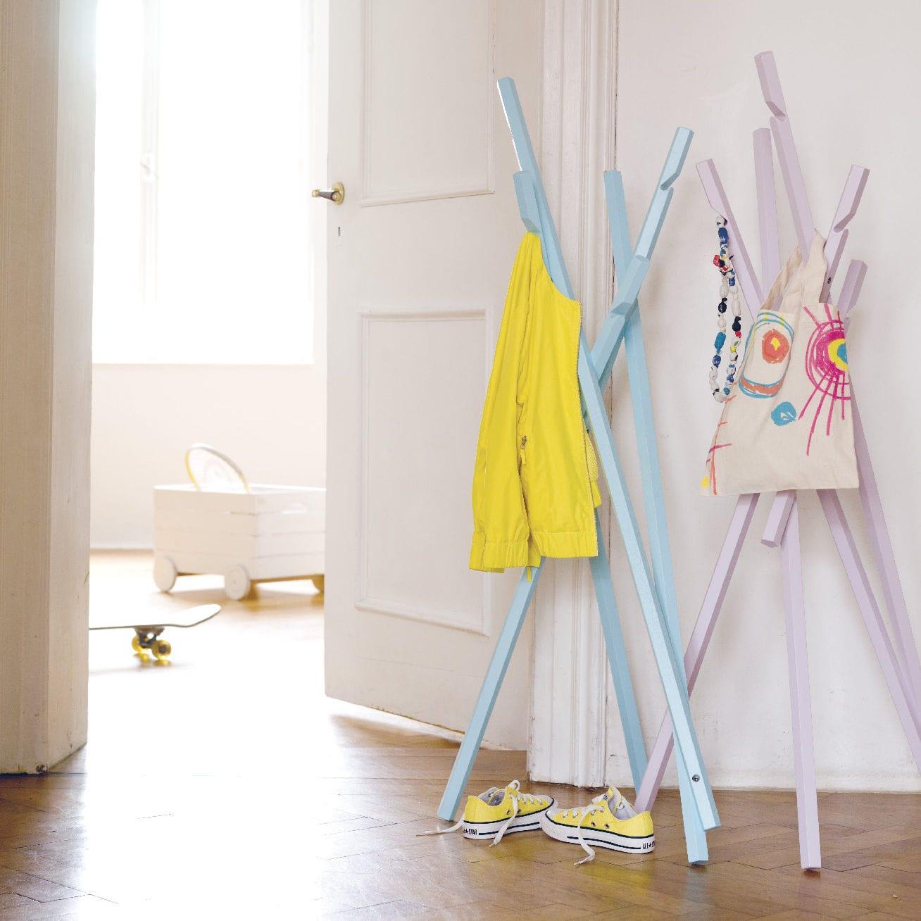 Portemanteau Sur Pied Contemporain En Métal Pour Enfant - Porte manteau enfants