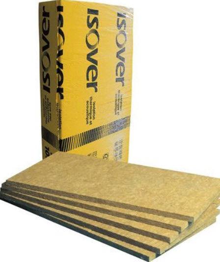 isolant thermo-acoustique / en laine de roche / pour mur / en