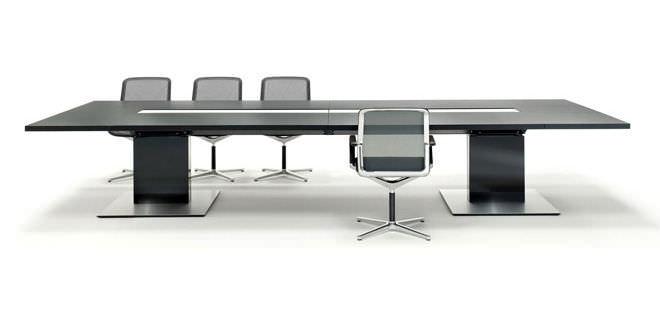 table de conférence contemporaine / en bois / rectangulaire