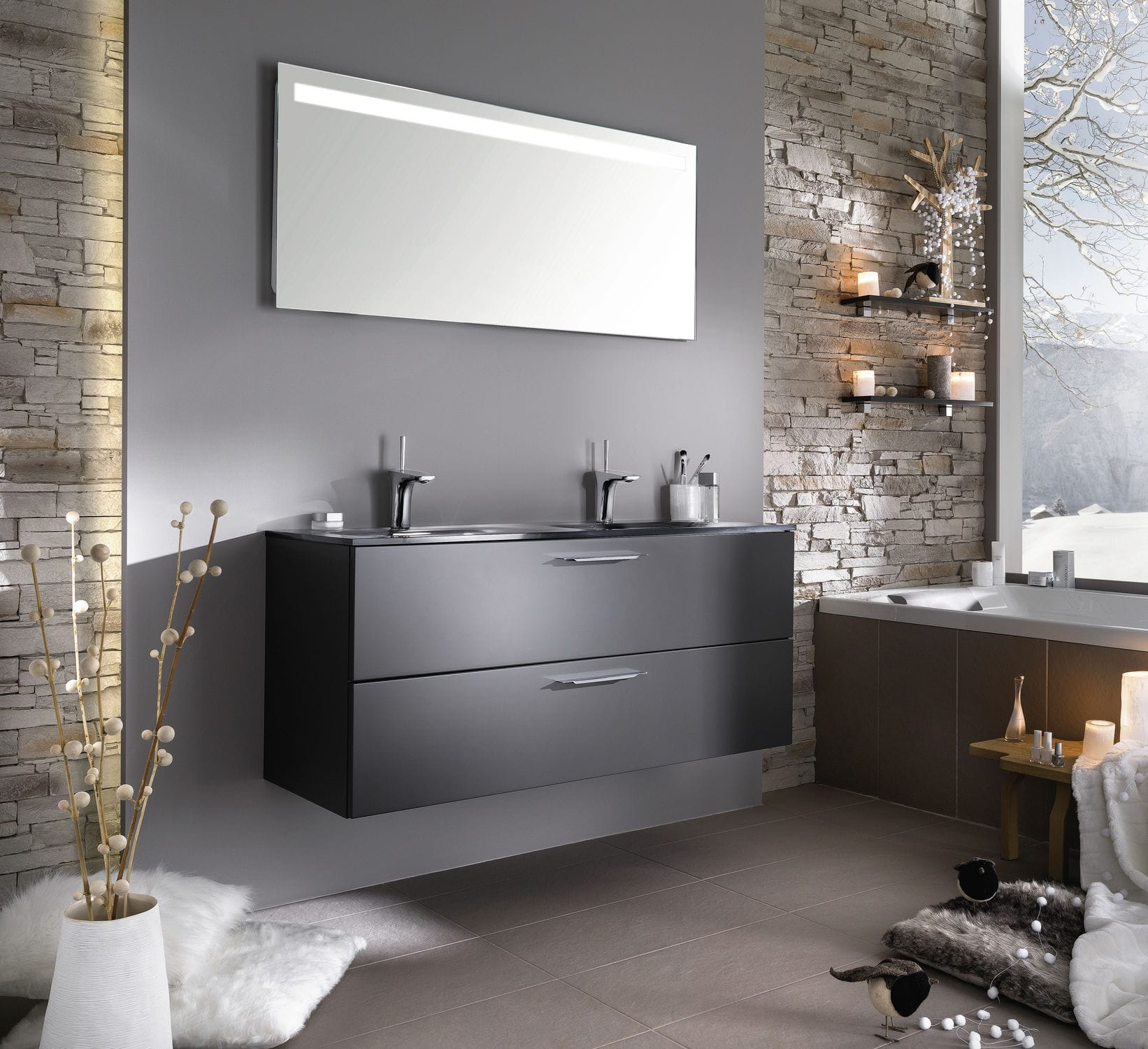 Salle de bain contemporaine / en verre / laquée - UNIQUE Sweet laque ...