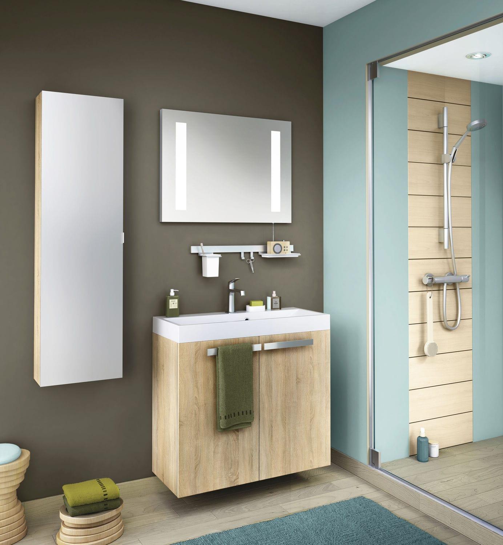 Meuble Salle De Bain Kub ~ salle de bain contemporaine en ch ne en m lamin delphy studio