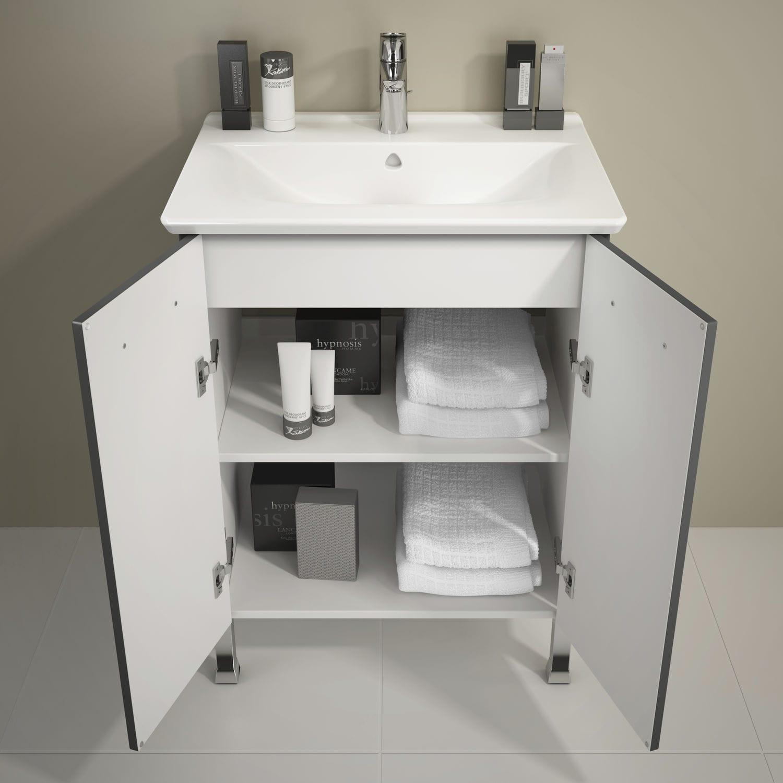 Meuble Salle De Bain Delpha Urban Pro ~ meuble vasque double poser en bois en m lamin urban pro