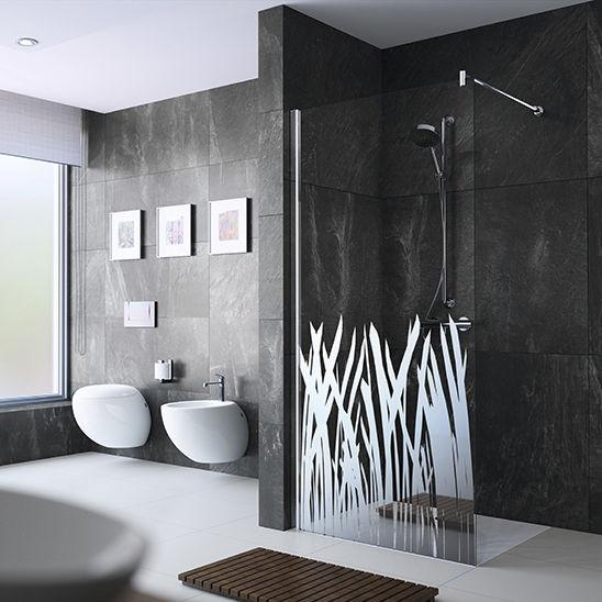douche litalienne en verre rectangulaire