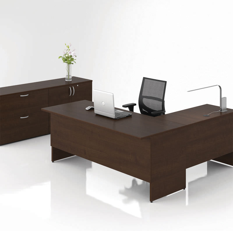 bureau pour open space de direction en bois lacasse concept - Bureau Angle Bois