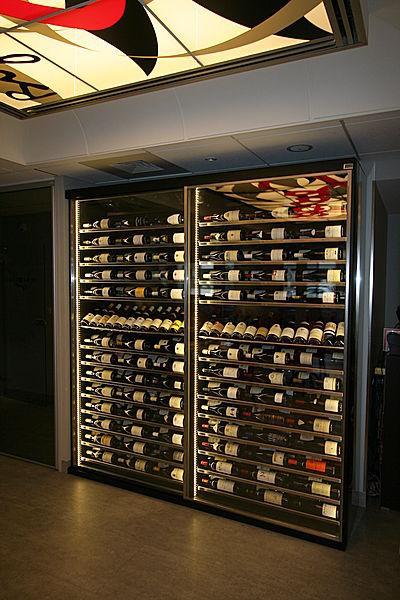 cave à vin professionnelle / encastrable / en inox / sur mesure