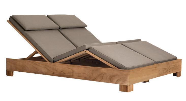 chaise longue contemporaine / en bois / de jardin / double ... - Chaise Longue Jardin Bois