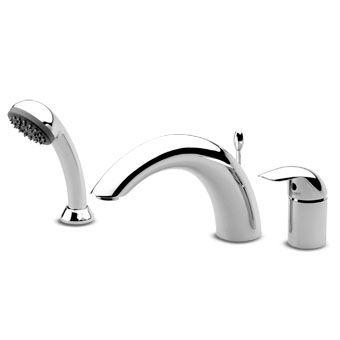 mitigeur pour baignoire en laiton 3 trous avec douchette extensible elfo z27158 - Robinet Baignoire Avec Douchette