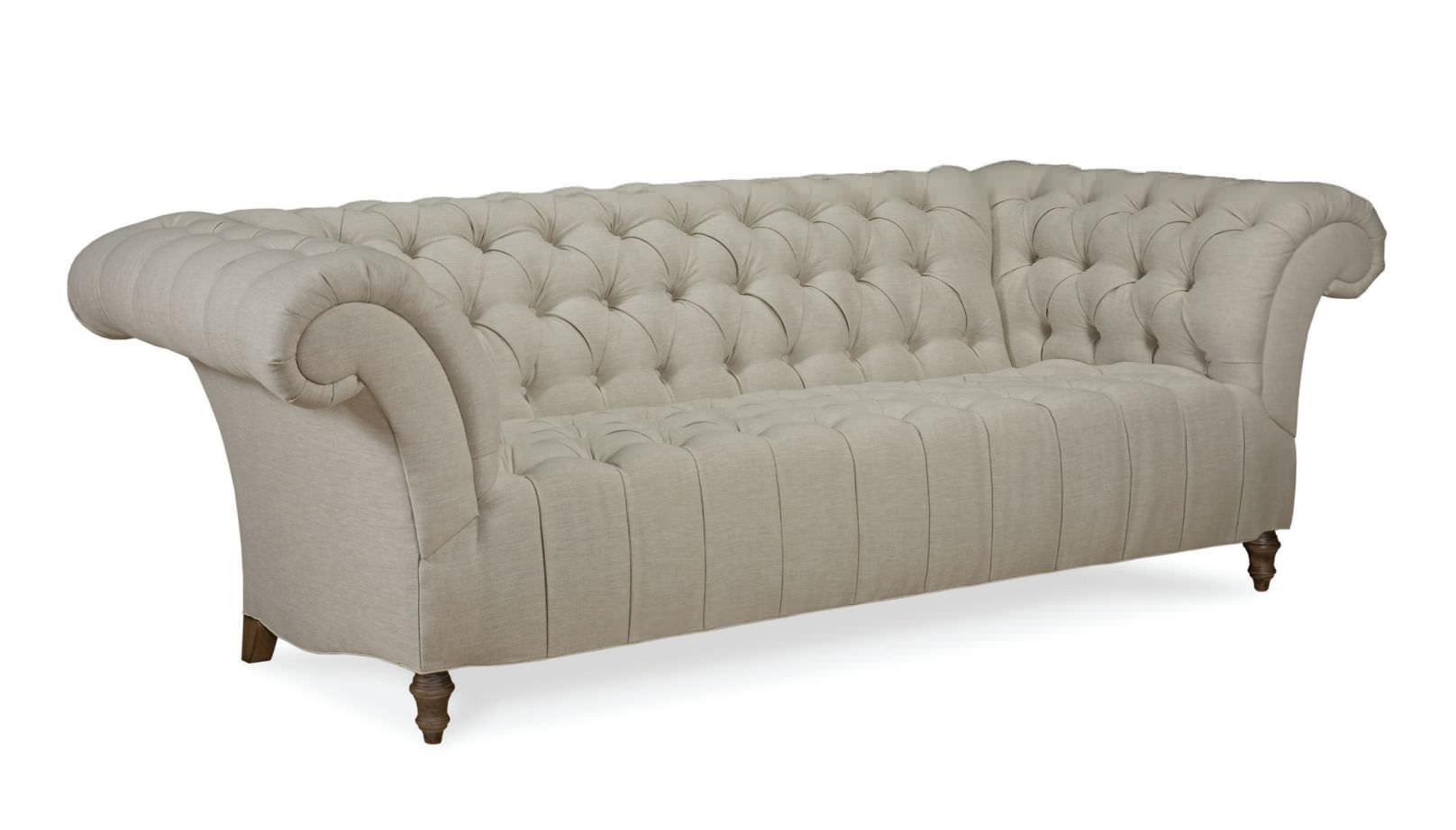Favori Canapé de style chesterfield / en tissu / 3 places / beige - F  JW21