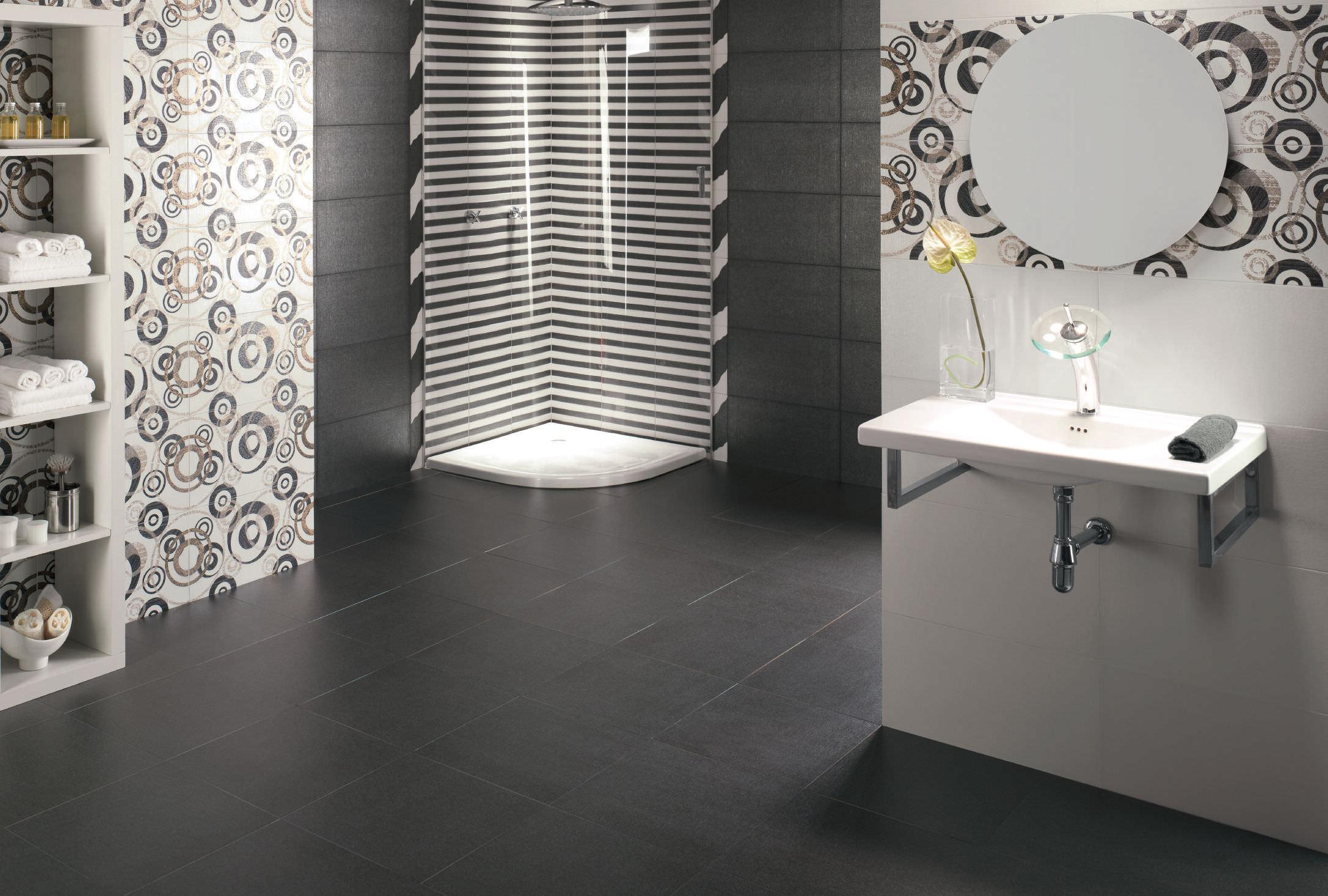 carrelage d'intérieur / de salle de bain / mural / en grès cérame ... - Lino Dans Salle De Bain