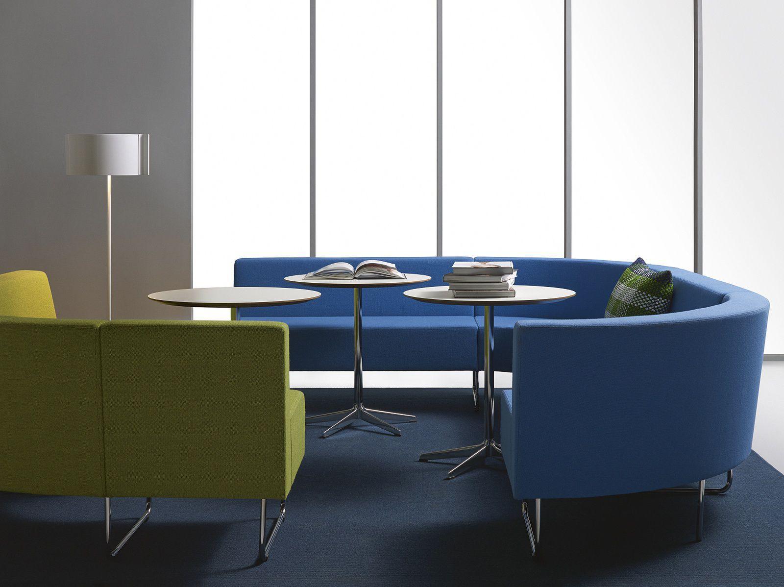 Banquette modulable / contemporaine / en tissu / pour espace ...