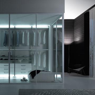 Dressing contemporain / en bois / avec porte coulissante - TWIN by ...