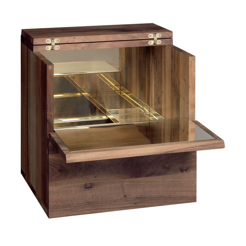 Exceptionnel Meuble bar contemporain / en noyer / en laiton / en cuivre - SB10  VA15
