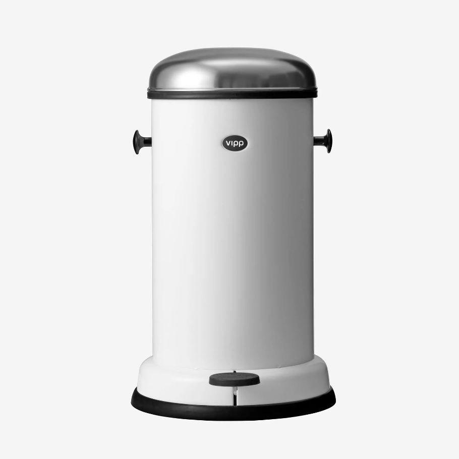 Poubelle de cuisine / en acier inoxydable / à pédale / design ...