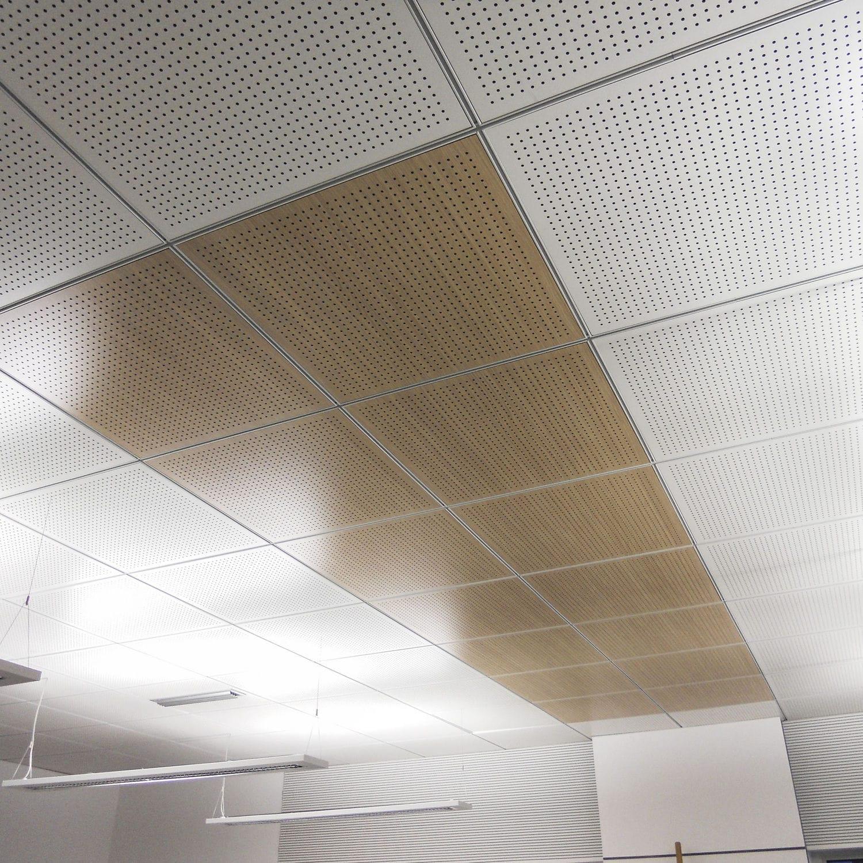 Faux Plafond En Bois En Panneaux En Dalles Acoustique 60x60