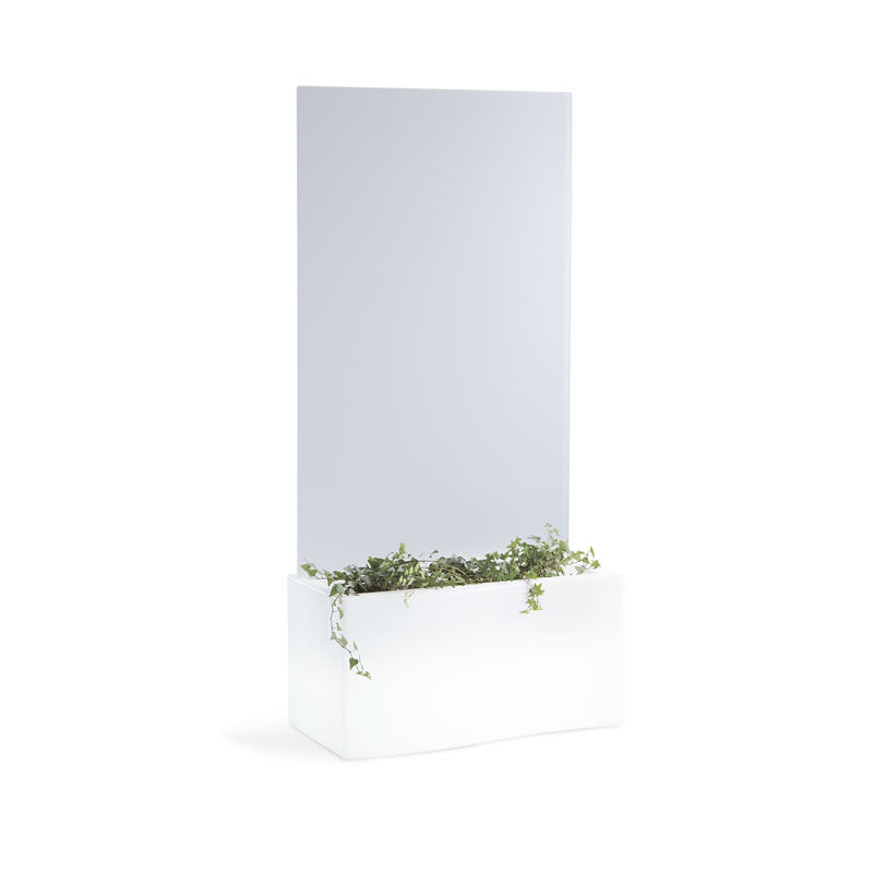 jardinire en polythylne rectangulaire avec clairage intgr contemporaine prive slide - Jardiniere Exterieure Contemporaine
