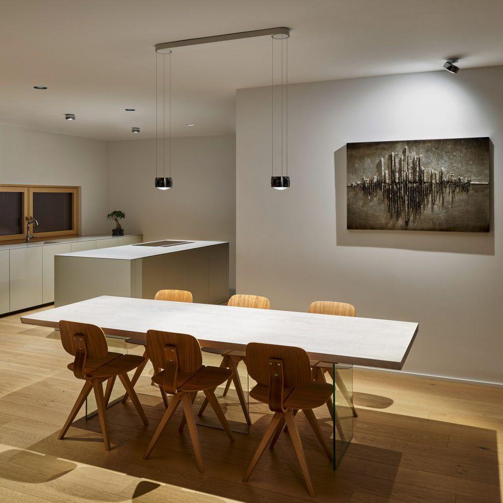 suspension contemporaine en aluminium en acier sento sospeso due occhio vid os. Black Bedroom Furniture Sets. Home Design Ideas