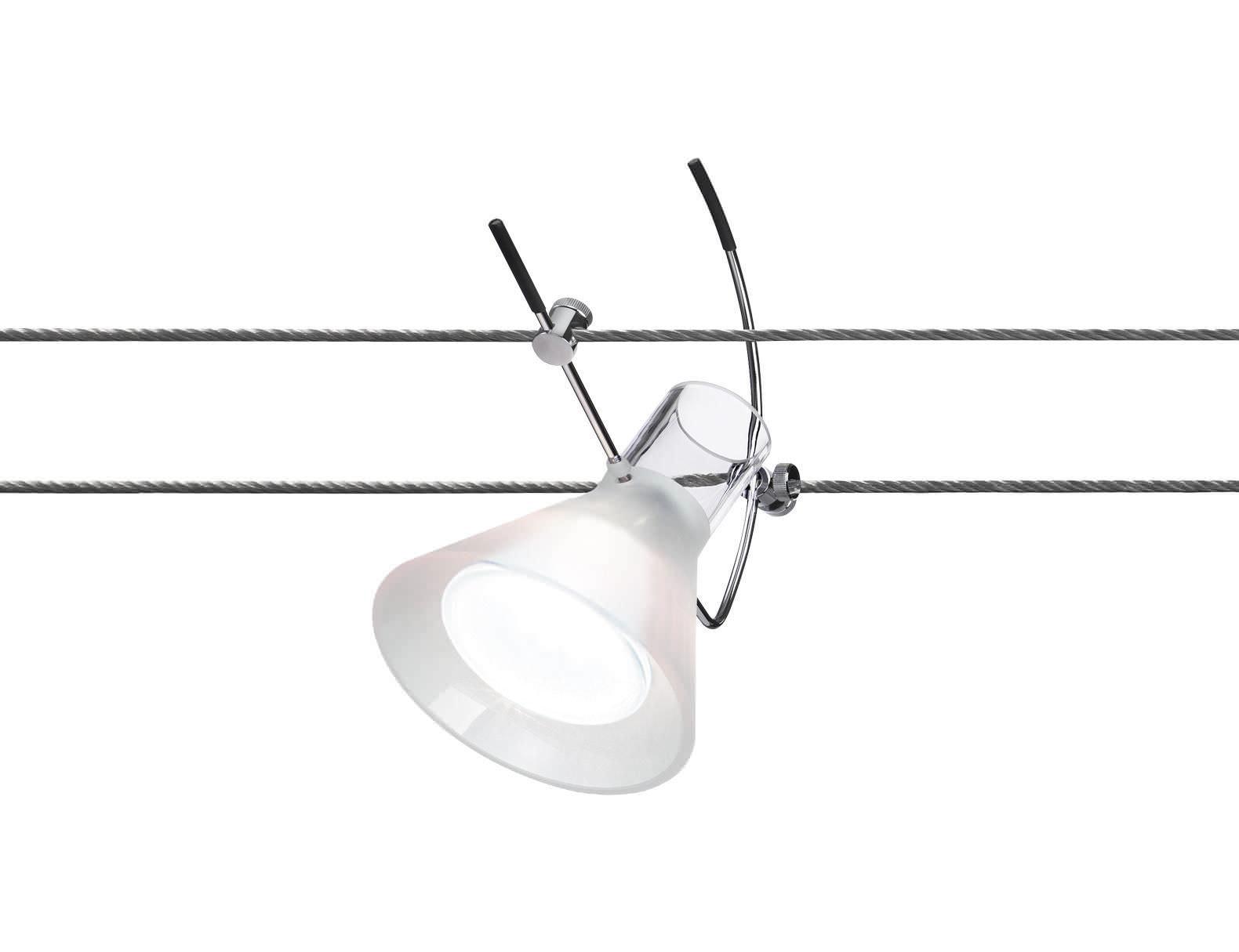 Éclairage sur câble halogène / conique / en verre soufflé / d ...