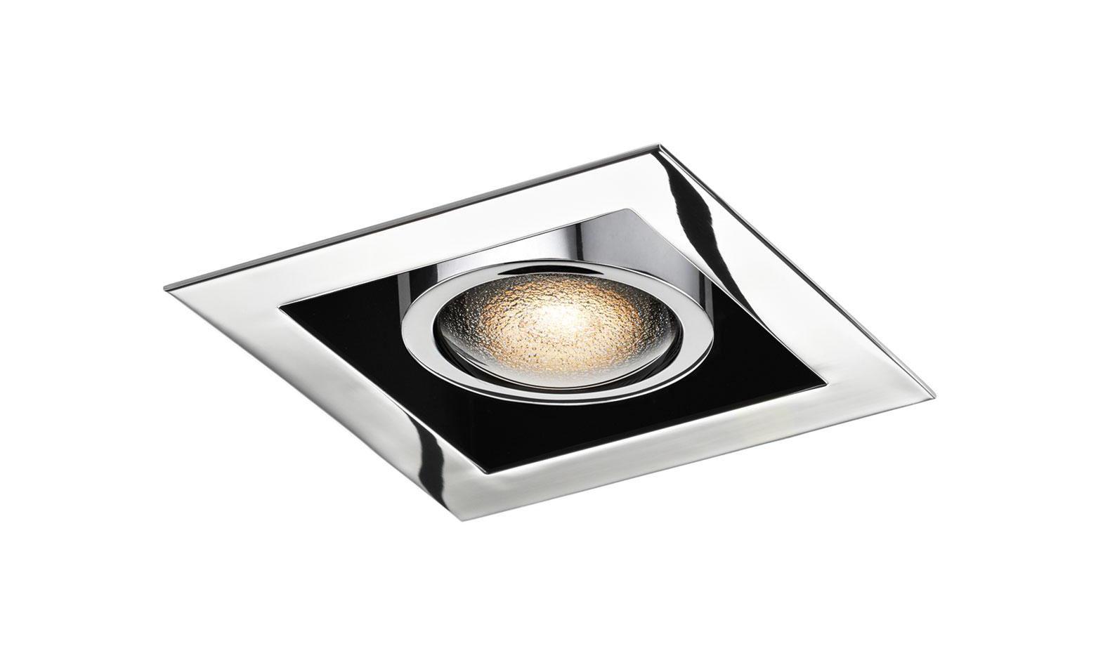 Exceptionnel Spot encastrable au plafond / à LED / carré / d'acier - CRANNY  HD94