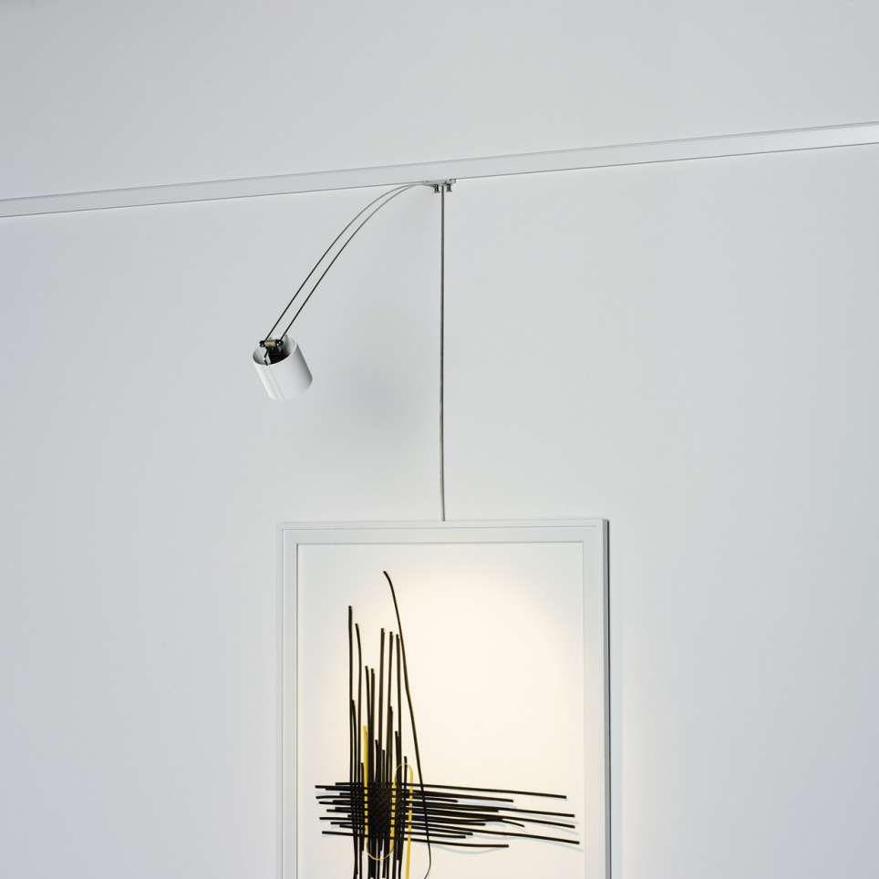 éclairage de tableau contemporain en aluminium à led halogène poster