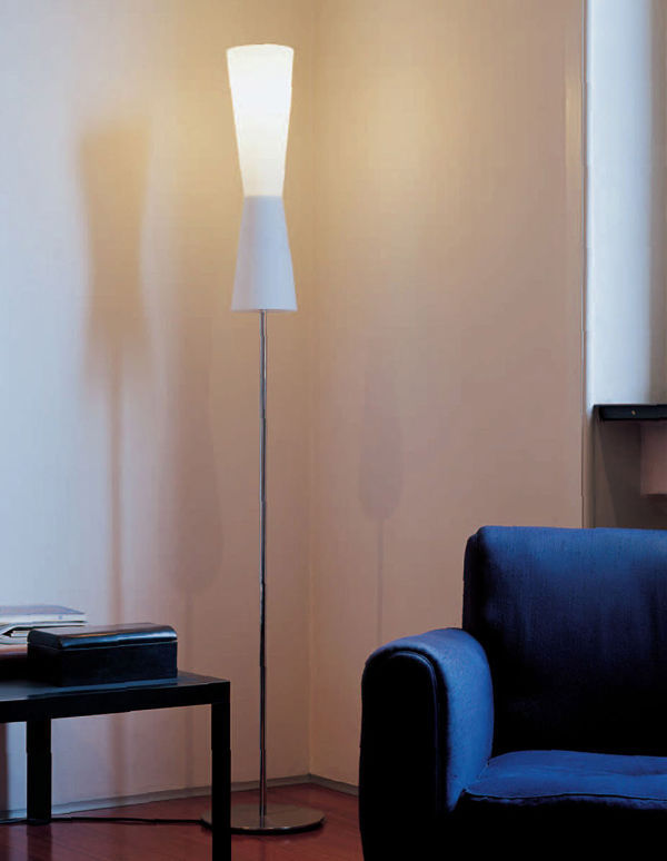 En Métal Verre De Lu Murano Lampe Pied Sur Contemporaine 8kn0OwP