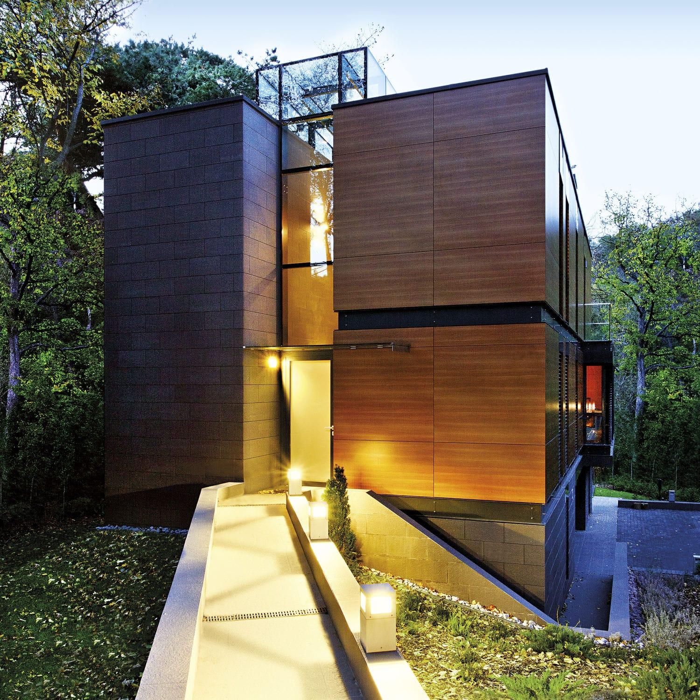 Borne d éclairage de jardin contemporaine en aluminium  LED
