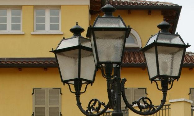 Aec Illuminazione Lanterna Firenze : Lampadaire urbain classique en fonte en acier galvanisé