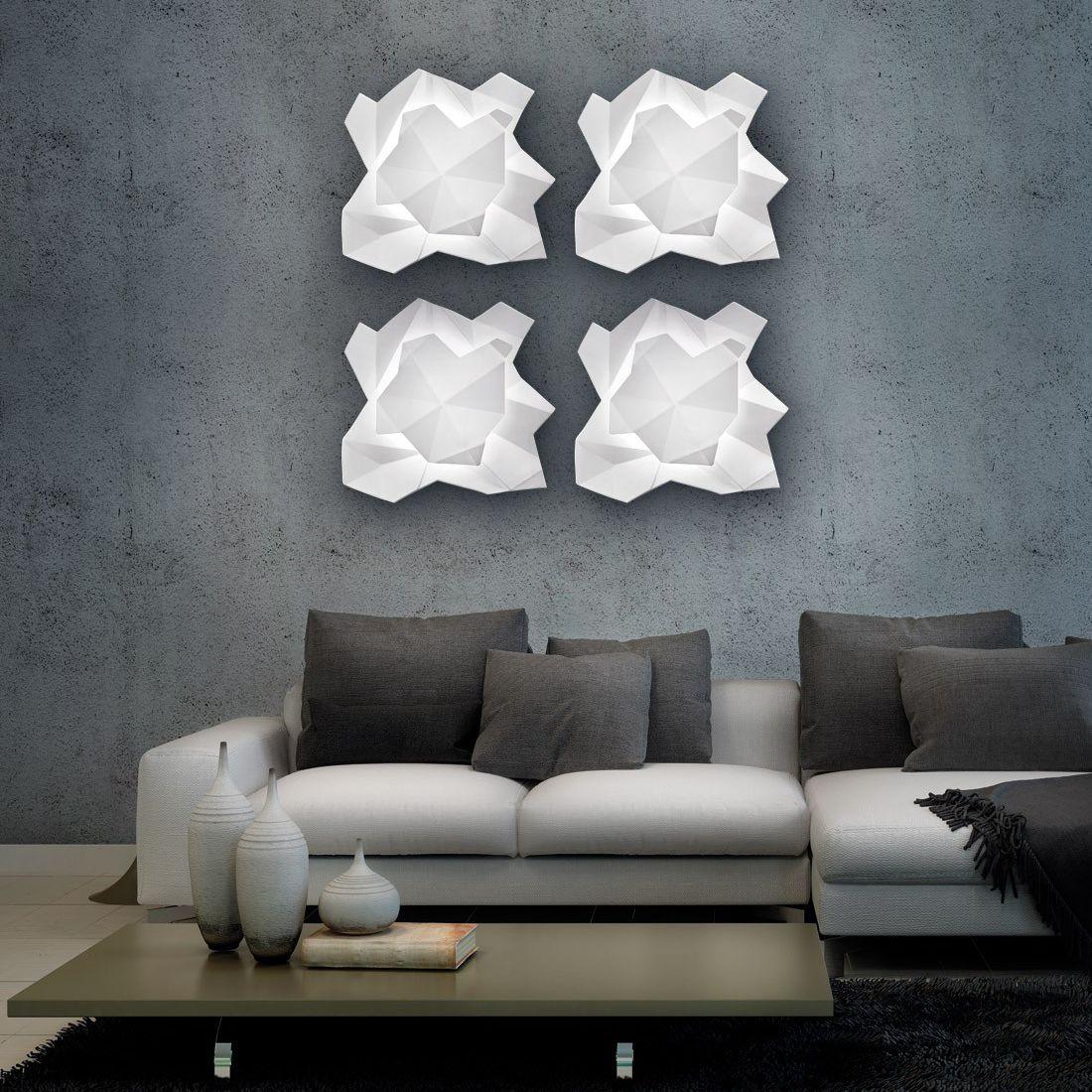 applique murale design original / en métal / en céramique / à led