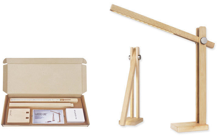 Lampe De Bureau Contemporaine En Bois Orientable Lite Feelux