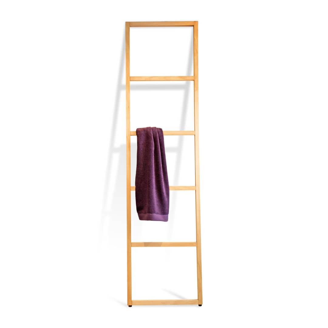 echelle porte serviette bois porte-serviettes échelle - sur pied - en bois - WOOD: WO HTL