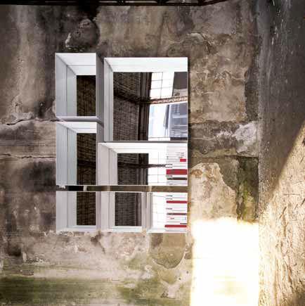 tagre murale contemporaine en hpl avec miroir barra tasto by claude bitetti - Etagere Murale Miroir