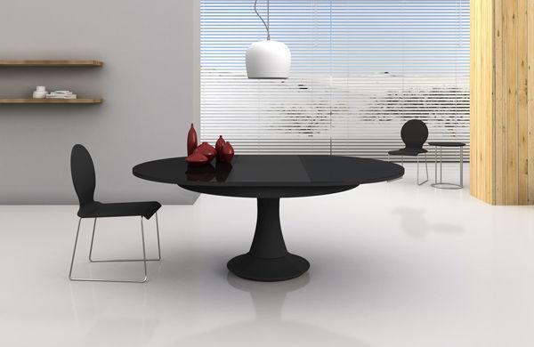 Super Table contemporaine / en bois / ronde / à rallonge - RAQUEL M  CT29