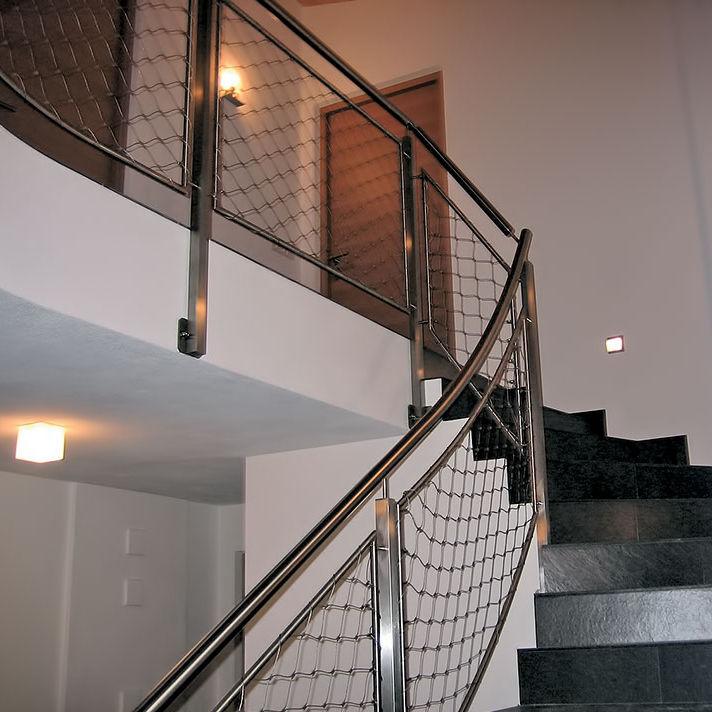 Garde-corps en inox / grillagé / d\'intérieur / pour escalier - INOX ...
