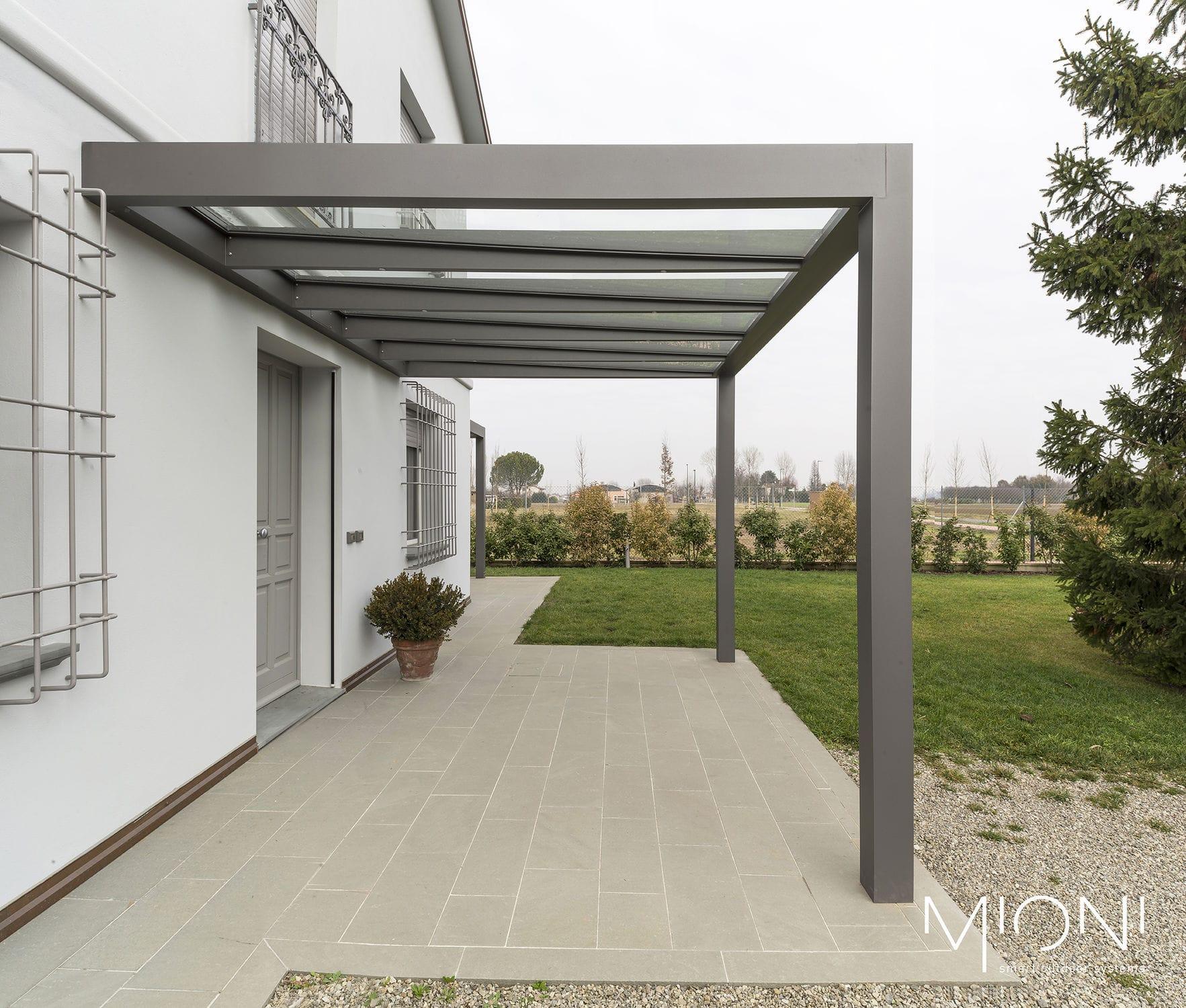 auvent de terrasse / en aluminium / en verre / résidentiel - alluver